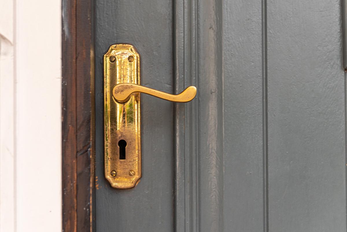 Door handle of a country home