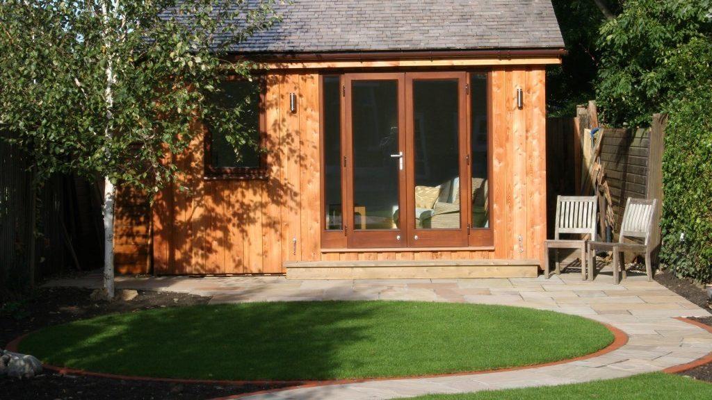 Home office in a garden
