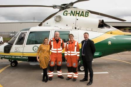 Photo: Our visit to the Great North Air Ambulance Service, Cumbria