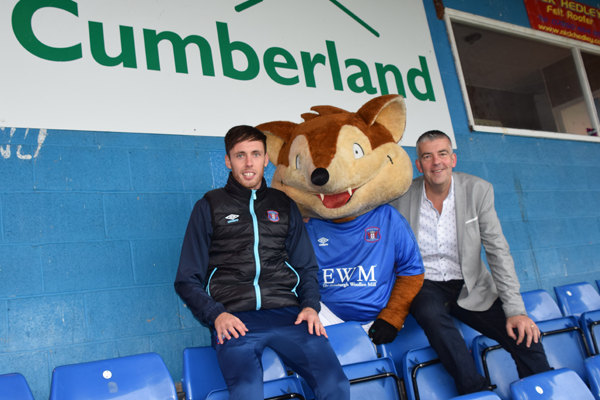Photo: The Cumberland continues sponsorship deal with Carlisle United