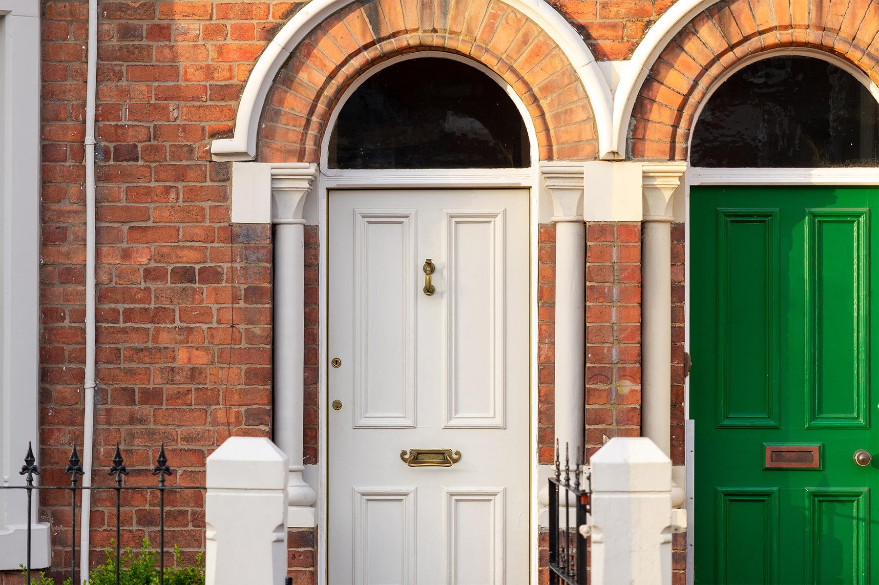 front door of a terraced house