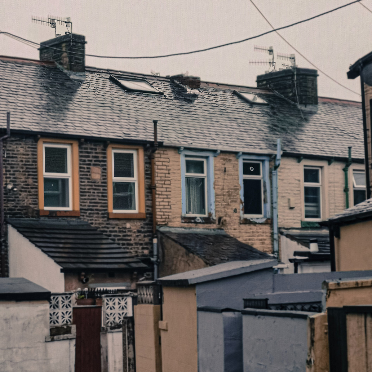 Rows of terrace houses