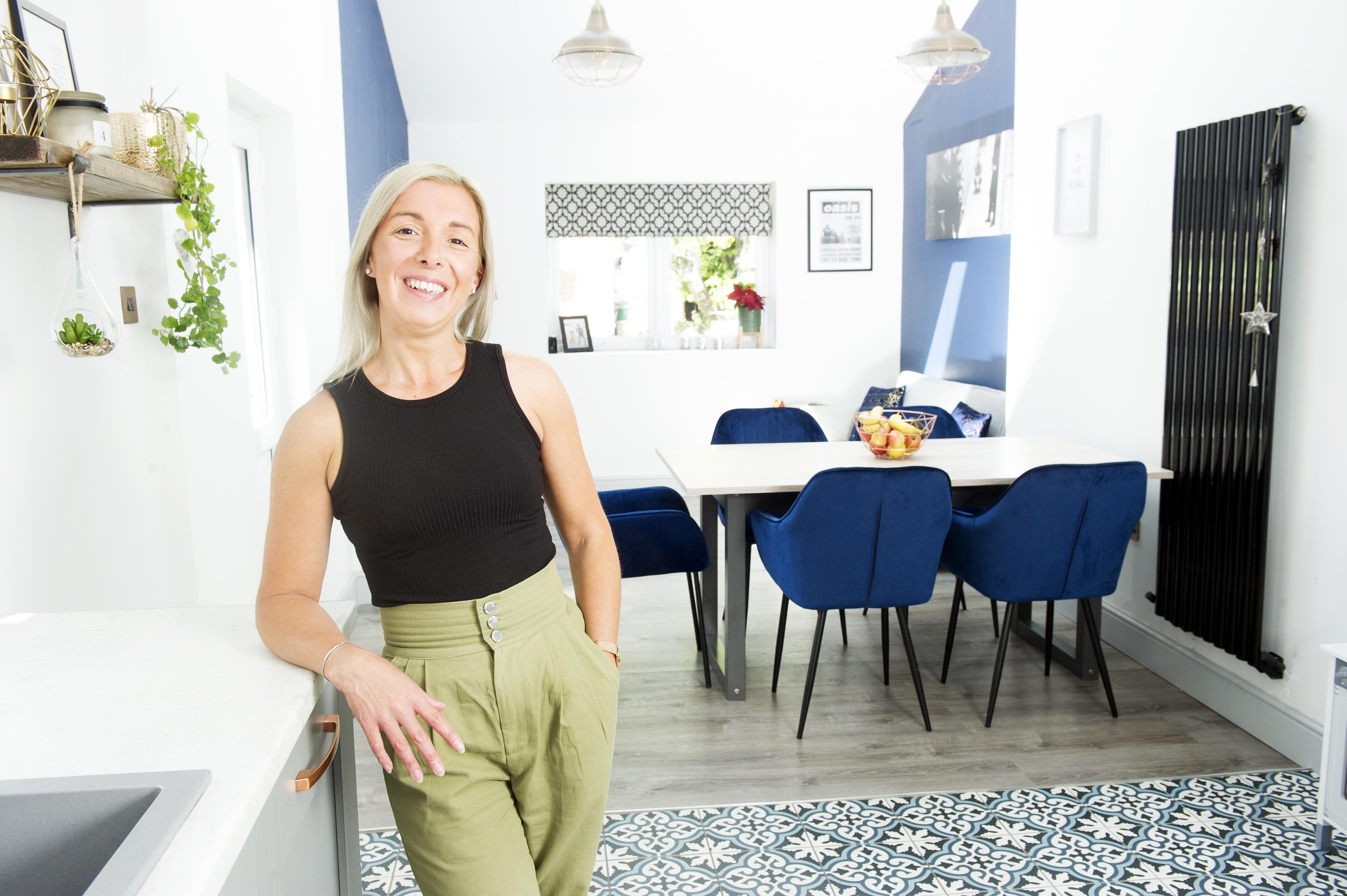 Nicky Fajardo's new kitchen diner thanks to Cumbria Home Renovation Services