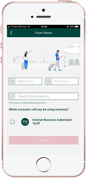 Register your card for use abroad